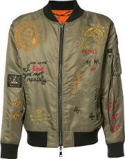 Haculla , Embroidered Reversible Bomber Jacket