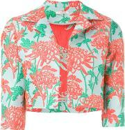 Parosh , P.a.r.o.s.h. Floral Brocade Cropped Jacket
