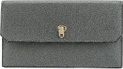 Valextra , Continental Wallet Women Calf Leather One Size, Women's, Grey