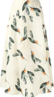 Cacharel , Pineapple Print Skirt Women Cotton 36, Women's, Yelloworange