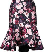 Romance Was Born , 'magnolia Blossom' Skirt Women Silkpolyester 6, Women's, Black