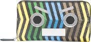Fendi , 'no Words' Printed Wallet Men Calf Leather One Size