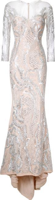 Mikael D , . Beaded Gown