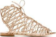 Sophia Webster , Lace Up Sandals Women Calf Leatherleather 36