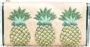 Edie Parker , Pineapples Embroidery Clutch