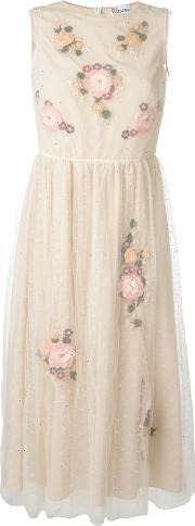 Red Valentino , Tulle Flowers Application Dress