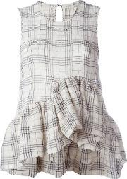 Isa Arfen , Plaid Sleeveless Top Women Cottonspandexelastane 10