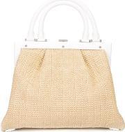 Perrin Paris , Woven Tote Women Leatherstraw One Size, Women's, Brown