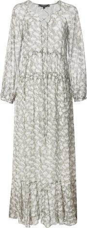 Derek Lam , Lace Up Maxi Dress Women Silk 40