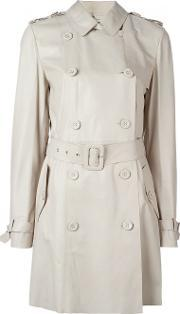 Desa Collection , Double Breasted Trench Coat Women Leather 42