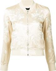 3x1 , Floral Embroidery Bomber Jacket Women Cottonpolyesterrayon S