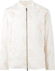 By Walid , Jacob Embroidered Jacket Men Cotton L, Nudeneutrals