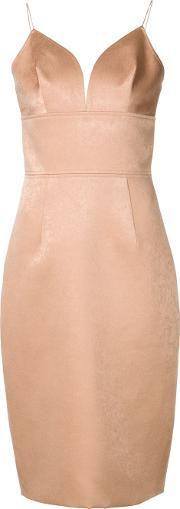 Christian Siriano , Sweetheart Neck Fitted Dress Women Polyester 0, Women's, Nudeneutrals