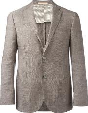 Corneliani , Two Button Blazer Men Linenflaxcuproviscosevirgin Wool 54, Nudeneutrals