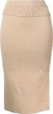Dion Lee , Suspended Ribbed Pencil Skirt Women Nylonrayon 6