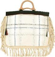 Forte Forte , Fringed Tote Bag Women Cotton One Size, Women's, Nudeneutrals