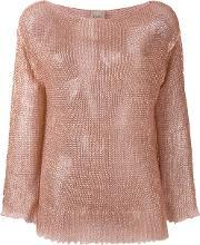 Nude , Loose Knit Top