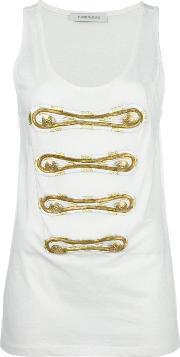 Pierre Balmain , Button Applique Top Women Cotton 40, Women's, Nudeneutrals