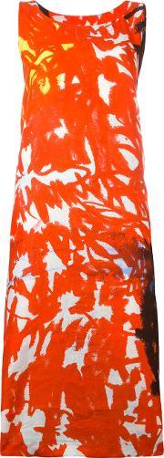 Daniela Gregis , Floral Print Dress Women Linenflax One Size, Women's, Red