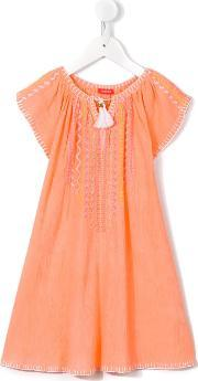 Sunuva , Embroidered Cheesecloth Dress Kids Cotton 7 Yrs