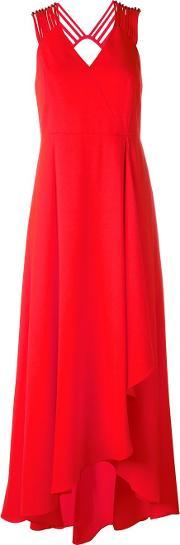 Halston Heritage , Asymmetric Draped Dress Women Polyesterspandexelastane 2