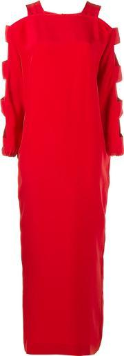 Alessandra Rich , Cutout Silk Dress Women Silk 44, Women's, Red