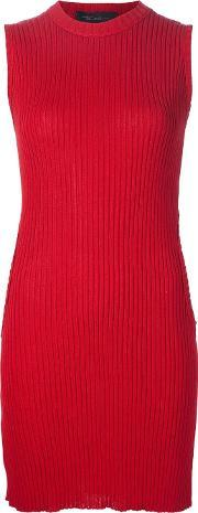 Area Di Barbara Bologna , Ribbed Sleeveless 'circle Sweater' Dress Women Cotton M, Women's, Red