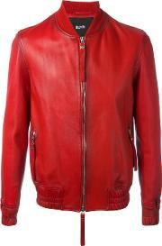 Blood Brother , Guard Bomber Jacket Men Cottonlamb Nubuck Leather M, Red