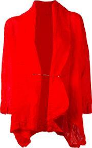 Daniela Gregis , Wrinkled Pinned Jacket Women Linenflax One Size, Women's, Red