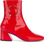 Dorateymur , Nizip Boots Women Leatherpatent Leathermetal 36, Women's, Red