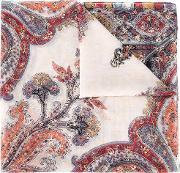Etro , Paisley Print Sequin Embellished Scarf Women Silk One Size, Women's, Red