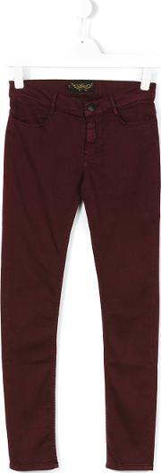 Finger In The Nose , Classic Straight Leg Jeans Kids Cottonpolyesterspandexelastane 16 Yrs, Girl's, Red