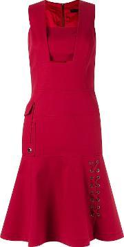 Giuliana Romanno , Sleeveless Fitted Dress Women Cottonspandexelastaneacetate 36