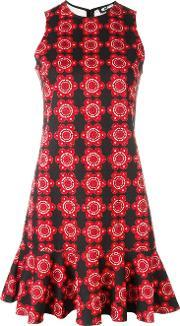 Holly Fulton , Floral Print Dress Women Cotton 8, Women's, Red