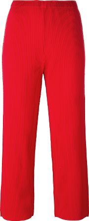Issey Miyake Cauliflower , Cropped Pants Women Polyester One Size, Women's, Red
