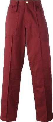 Liam Hodges , Patch Detail Jeans Men Cotton 32, Red