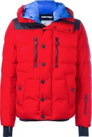 Moncler Grenoble , Hooded Padded Jacket Men Feather Downpolyamidepolyester 5, Red