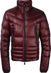 Moncler Grenoble , Zip Front Padded Jacket Men Feather Downpolyamide 4, Red