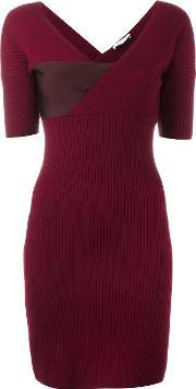 Mugler , Ribbed Fitted Dress