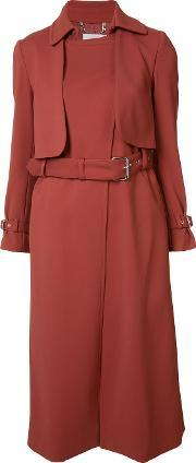 Rachel Comey , Belted Trench Coat Women Spandexelastaneviscosepolyacrylic 4, Women's, Red