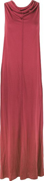 Rick Owens Lilies , Cowl Neck And Back Dress Women Cottonpolyamideviscose 38, Women's, Red