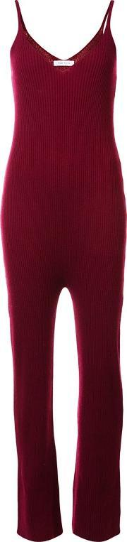 Ryan Roche , Ribbed Jumpsuit Women Cashmere S, Women's, Red