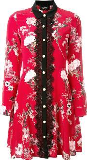 The Kooples , Lace Front Floral Dress Women Silkpolyester 1, Women's, Red
