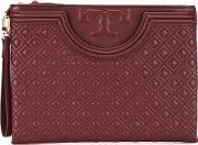 Tory Burch , Embossed Clutch Women Leather One Size, Women's, Red