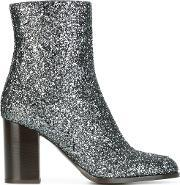 Veronique Branquinho , Glitter Boots Women Cottonacrylicpolyamidebos Taurus 37.5, Women's, Grey
