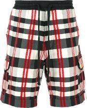 Christian Pellizzari , Checked Bermuda Shorts Men Cottonspandexelastanepolyimide 48