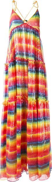 Daizy Shely , Sequin Embellished Rainbow Dress Women Polyesteracetate 40, Women's