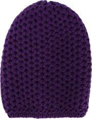 Inverni , Chunky Wool Knitted Beanie Women Cashmere One Size, Women's, Pinkpurple