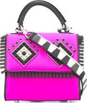 Les Petits Joueurs , Eyes Detail Tote Women Leather One Size, Women's, Pinkpurple