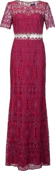 Marchesa Notte , Lace Floor Length Gown Women Polyester 10